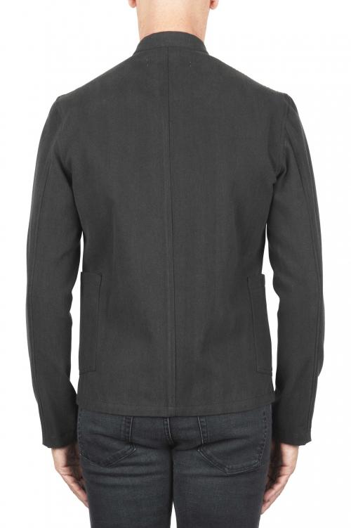 SBU 03106_2020AW Black mandarin collar sartorial work jacket 01