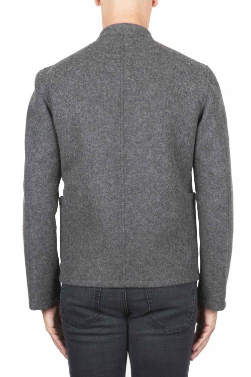 SBU 03107_2020AW Grey mandarin collar sartorial work jacket 01