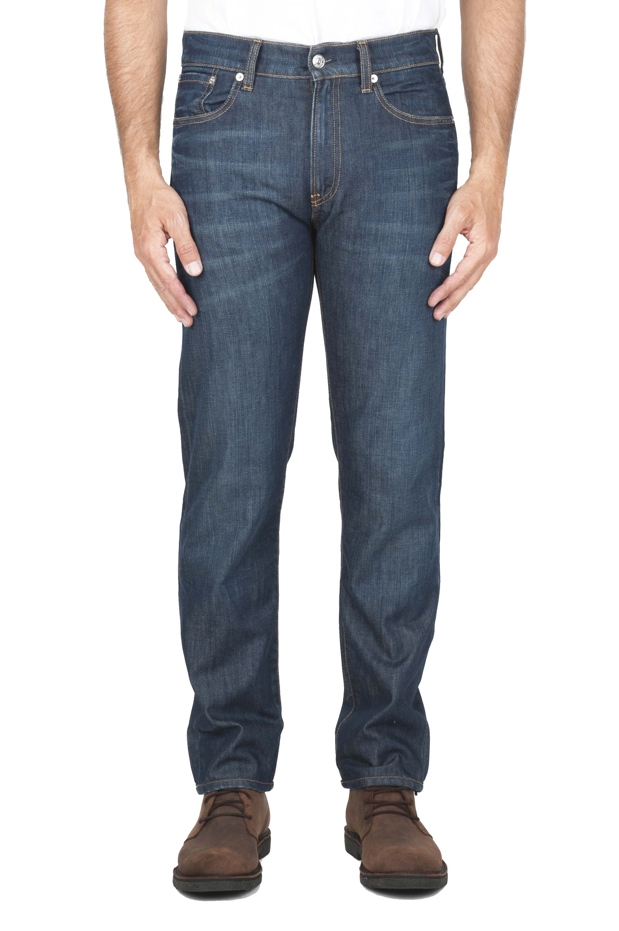 SBU 03110_2020AW Stone washed organic cotton denim blue jean 01