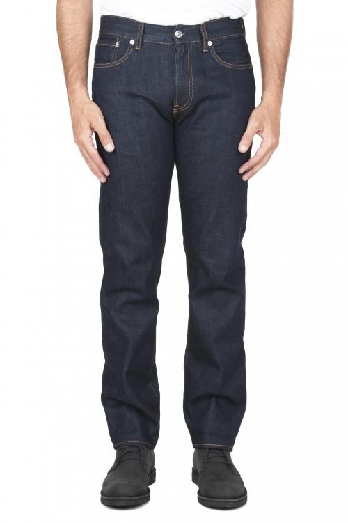 SBU 03111_2020AW Pantalones vaqueros azules de Denim japonés lavados teñidos añil natural 01