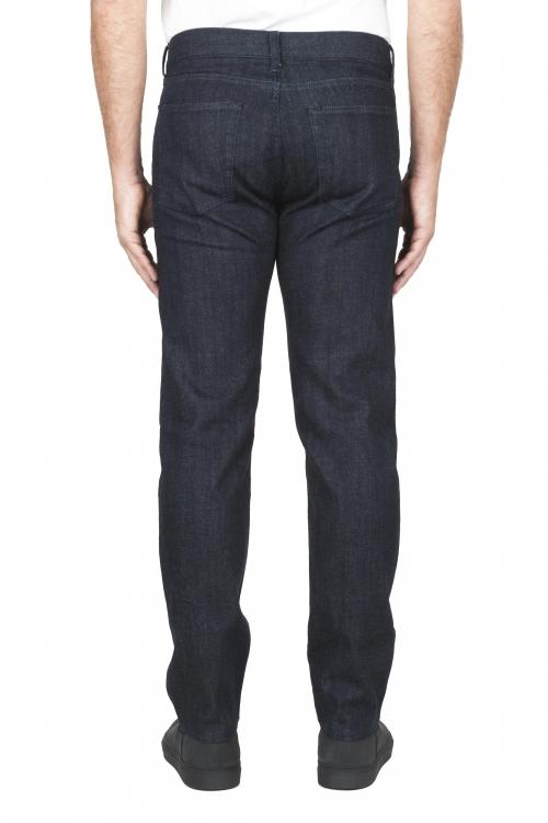 SBU 03113_2020AW Coton stretch japonais teinté indigo naturel  délavé jeans Denim 01