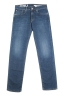 SBU 03114_2020AW Pure indigo dyed used washed stretch cotton blue jeans 06