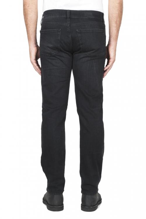 SBU 03115_2020AW Jeans en coton stretch noir délavé à l'encre naturelle 01