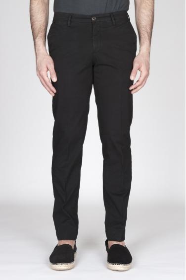 SBU - Strategic Business Unit - Pantaloni Chino Regular Fit Classici In Cotone Stretch Nero