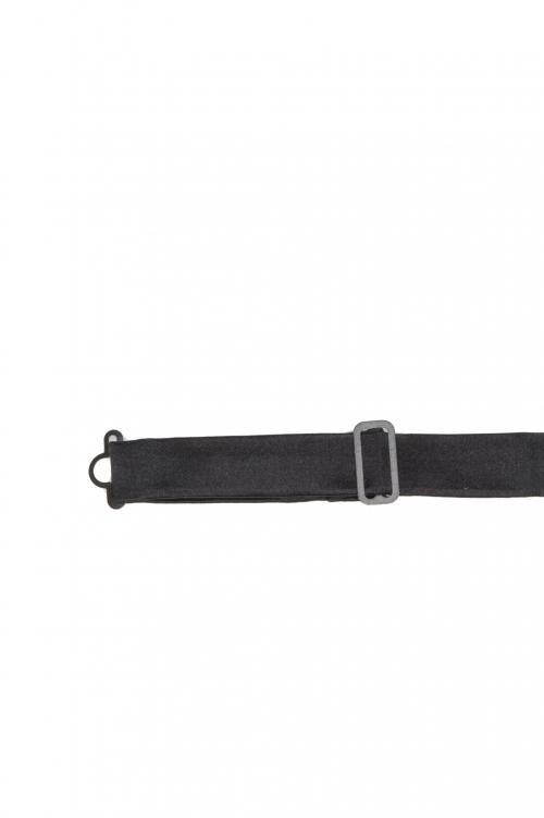 SBU 03130_2020AW Classic ready-tied bow tie in black silk satin 01