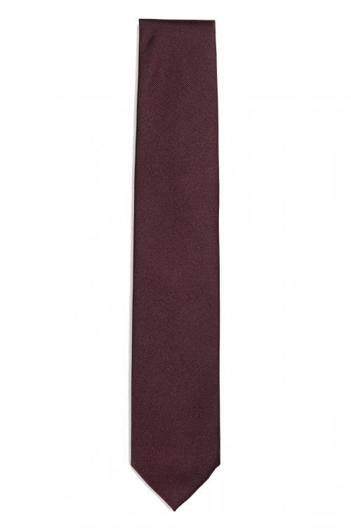 SBU 03137_2020AW Classic skinny pointed tie in red silk 01