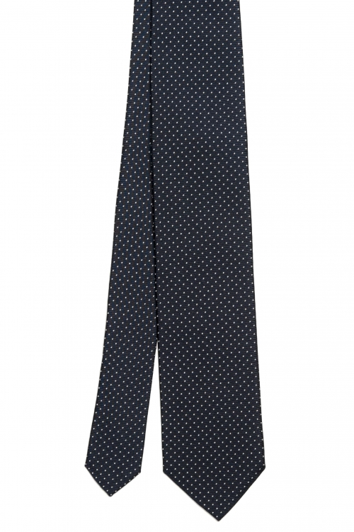 SBU 03139_2020AW Classic handmade pointed tie in silk 01