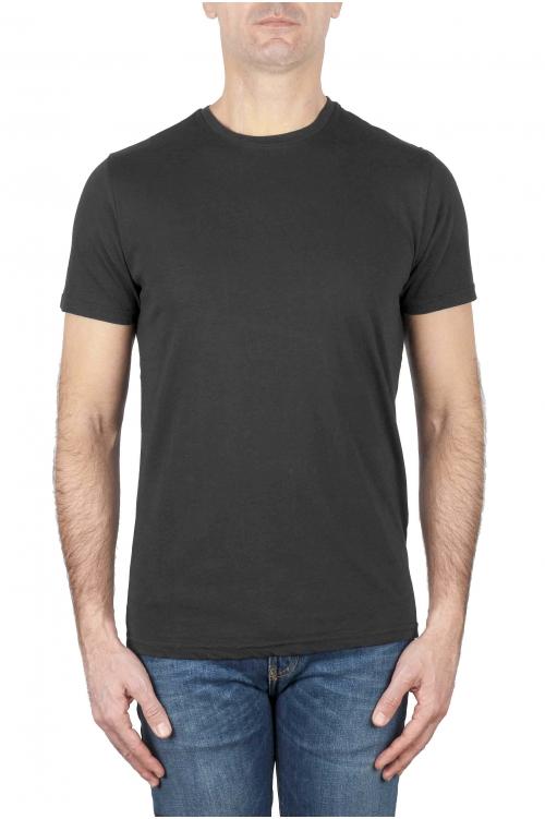 SBU 03147_2020AW T-shirt girocollo classica a maniche corte in cotone grigia 01