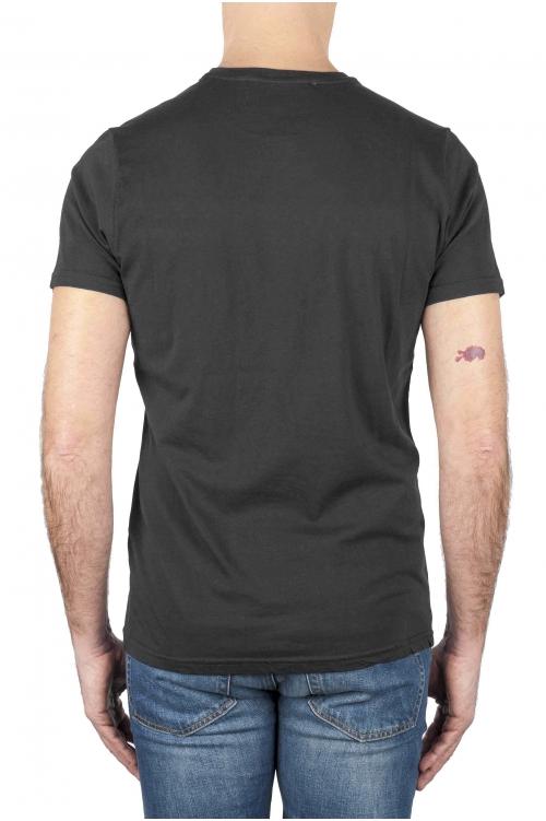 SBU 03147_2020AW Clásica camiseta de cuello redondo gris manga corta de algodón 01