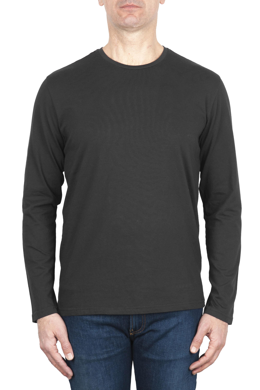 SBU 03150_2020AW Cotton jersey classic long sleeve t-shirt grey 01