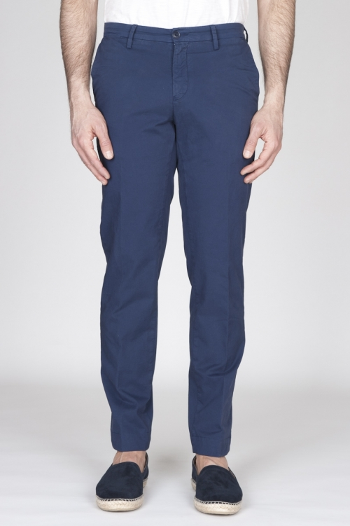 SBU - Strategic Business Unit - Pantaloni Chino Regular Fit Classici In Cotone Stretch Blue