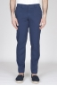 Pantaloni Chino Regular Fit Classici In Cotone Stretch Blue