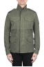 SBU 03152_2021SS Stone washed green cotton field jacket 01