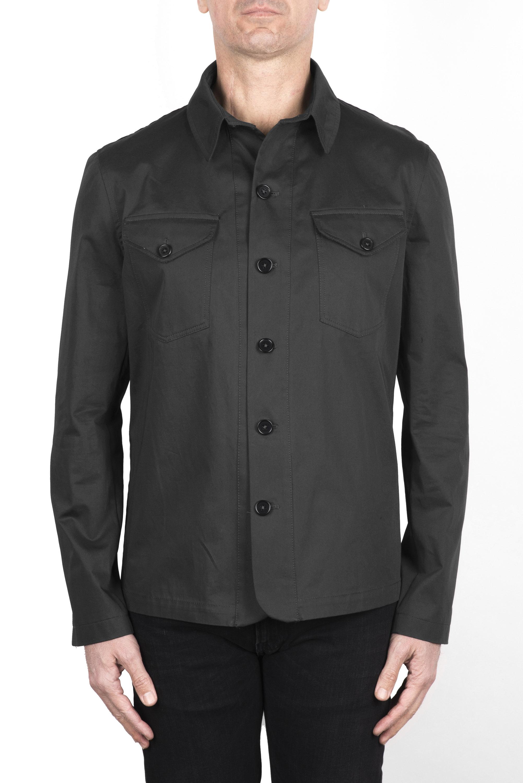 SBU 03154_2021SS Grey cotton overshirt 01