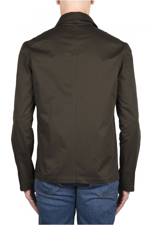 SBU 03155_2021SS グリーンコットンオーバーシャツ 01