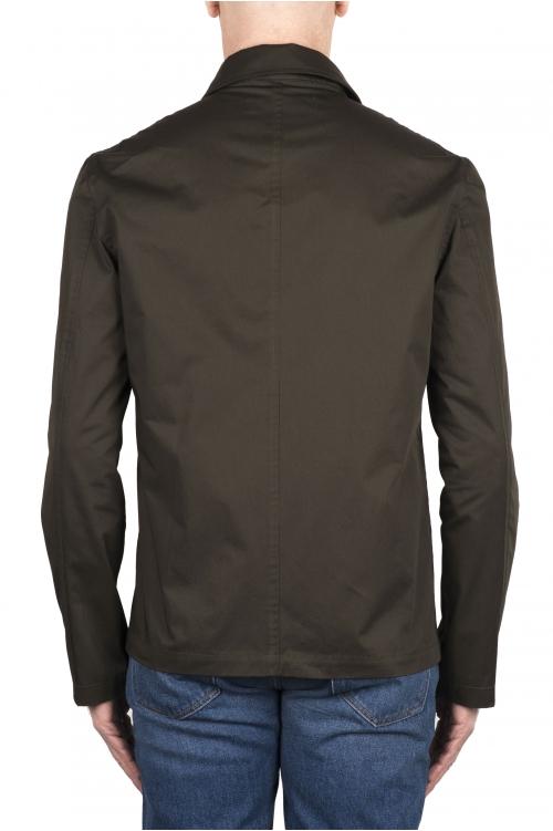 SBU 03155_2021SS Camicia in cotone tecnico verde 01