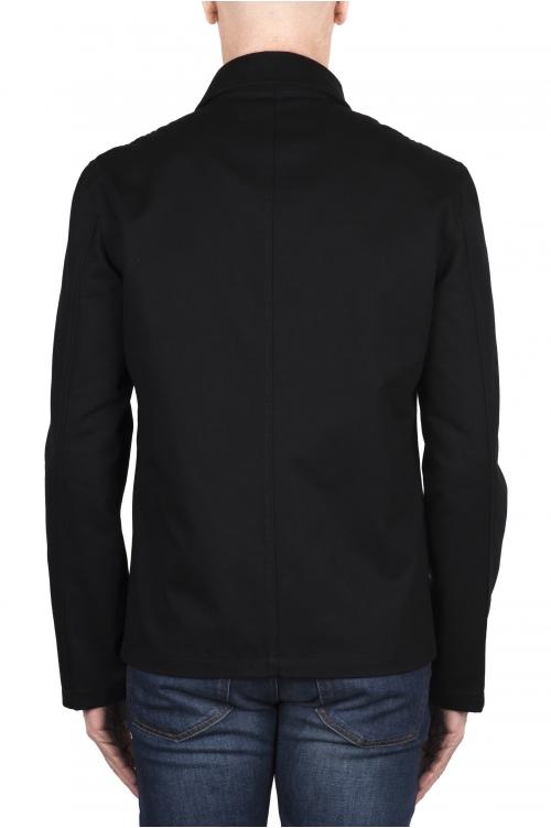 SBU 03156_2021SS 黒綿のオーバーシャツ 01