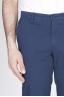 Pantaloni Chino Regular Fit Classici In Cotone Stretch Blue