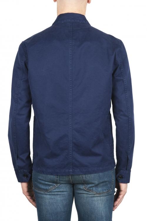 SBU 03160_2021SS Veste à poches multiples sans doublure en coton indigo 01