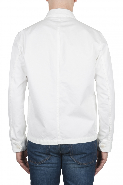 SBU 03161_2021SS Unlined multi-pocketed jacket in white cotton 01