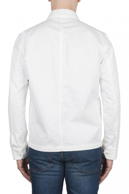 SBU 03161_2021SS Veste à poches multiples sans doublure en coton blanc 01
