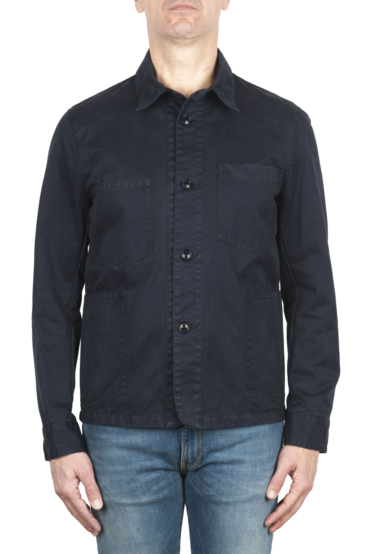 SBU 03162_2021SS Unlined multi-pocketed jacket in blue cotton 01