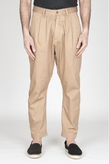 SBU - Strategic Business Unit - Pantaloni Da Lavoro 2 Pinces Giapponesi In Cotone Beige