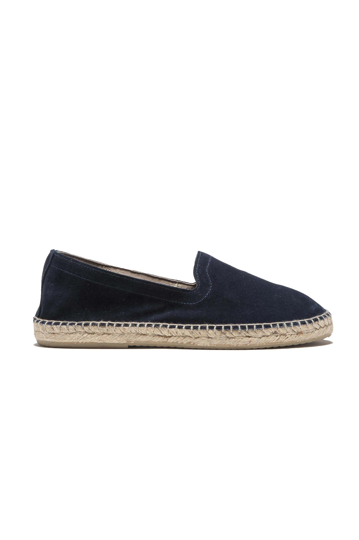 SBU 03175_2021SS Original blue suede leather espadrilles with rubber sole 01