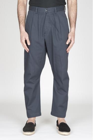 SBU - Strategic Business Unit - Pantaloni Da Lavoro 2 Pinces Giapponesi In Cotone Grigio