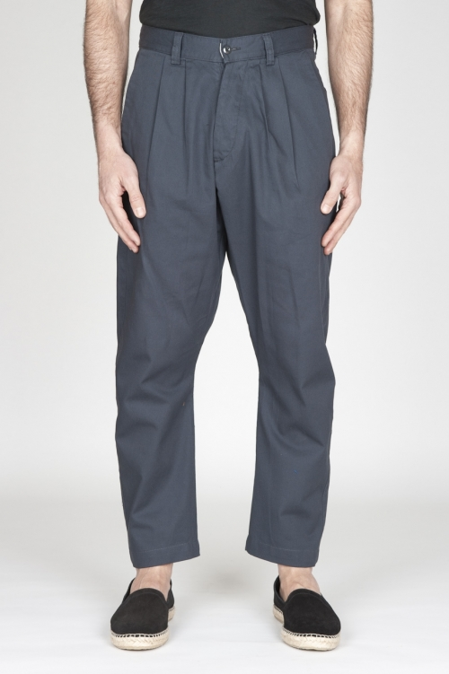 SBU - Strategic Business Unit - Pantaloni Da Lavoro 2 Pinces Giapponesi In Cotone Grigio