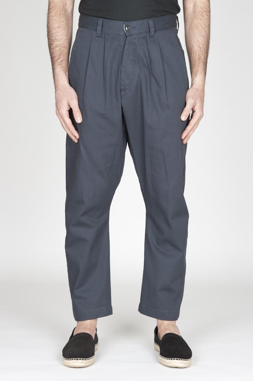 Pantaloni Da Lavoro 2 Pinces Giapponesi In Cotone Grigio