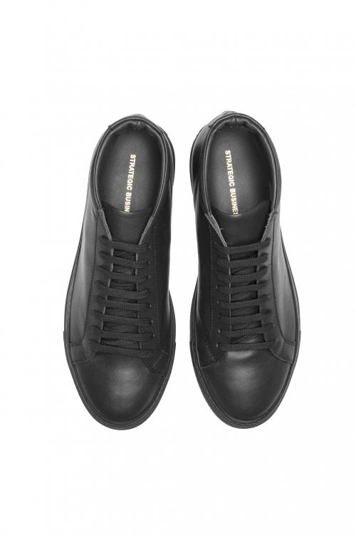 SBU 03191_2021SS Zapatillas altas con cordones en la parte media de piel de becerro negras 01