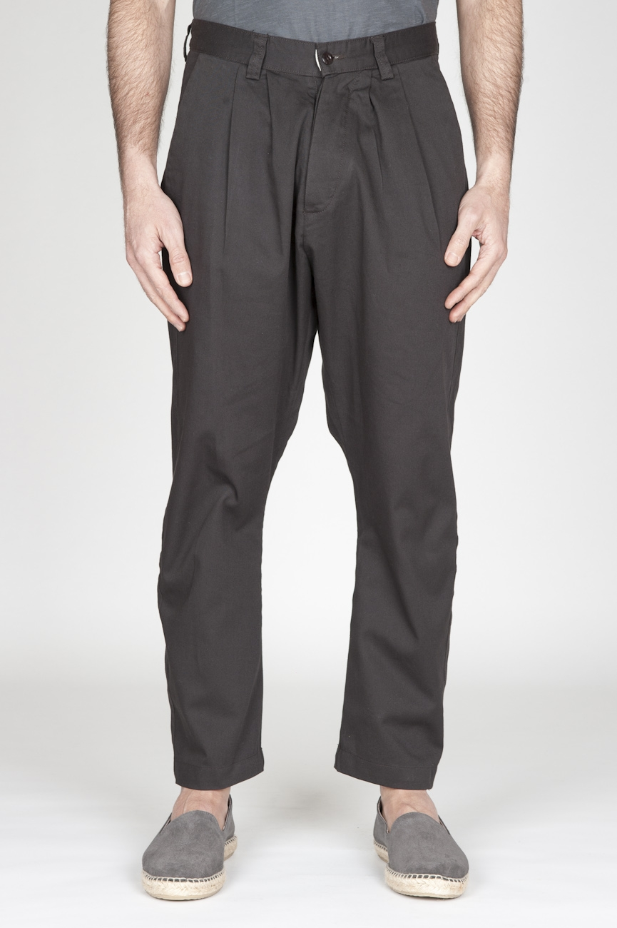 SBU - Strategic Business Unit - Japanese 2 Pinces Work Pants In Brown Cotton