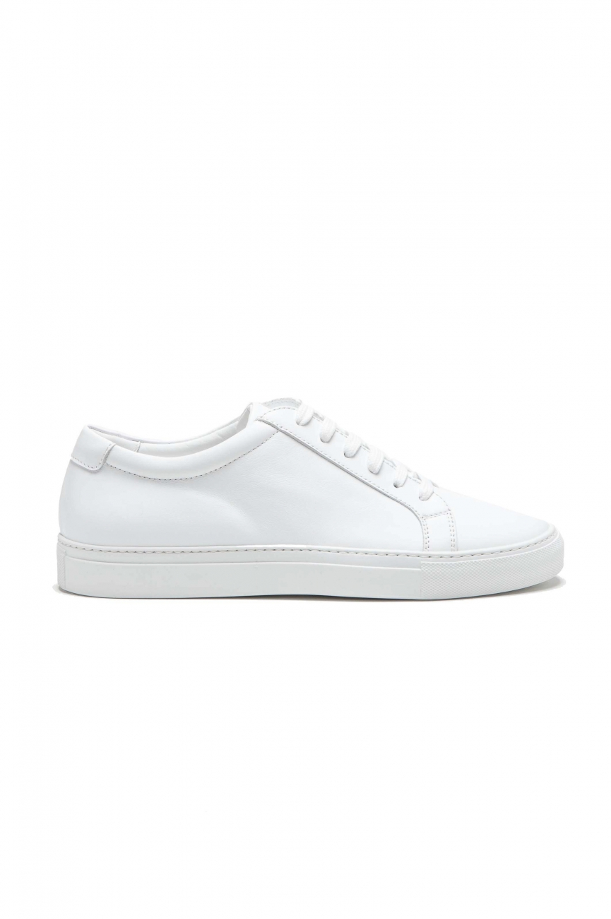 SBU 03194_2021SS Classic lace up sneakers in white calfskin leather 01