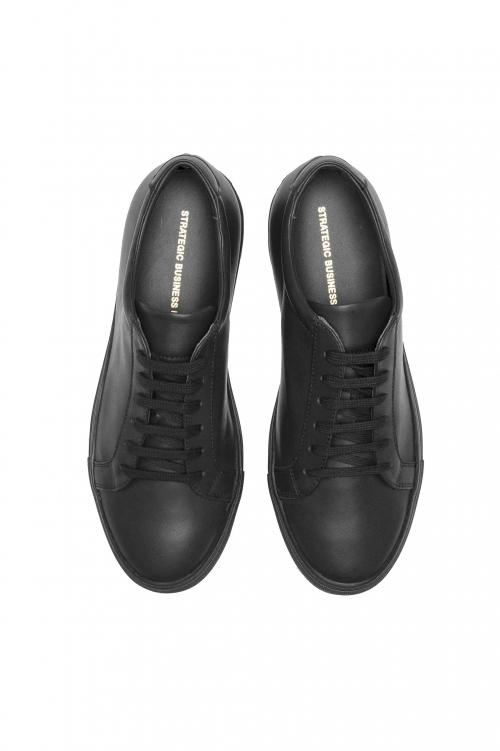 SBU 03195_2021SS Zapatillas clásicas con cordones en piel de becerro negras 01