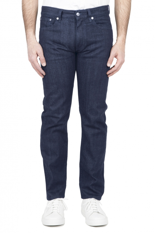 SBU 03206_2021SS Jeans elasticizzato indaco naturale denim giapponese 01