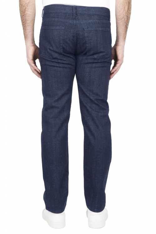 SBU 03206_2021SS Natural indigo dyed rinse washed japanese stretch cotton jeans 01