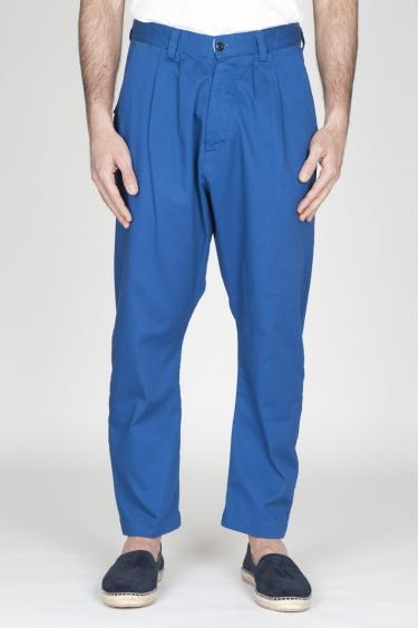 SBU - Strategic Business Unit - Pantaloni Da Lavoro 2 Pinces Giapponesi In Cotone Blue