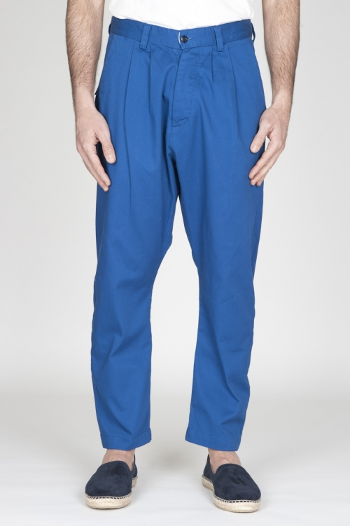 SBU - Strategic Business Unit - Pantaloni Da Lavoro 2 Pinces Giapponesi In Cotone Blue