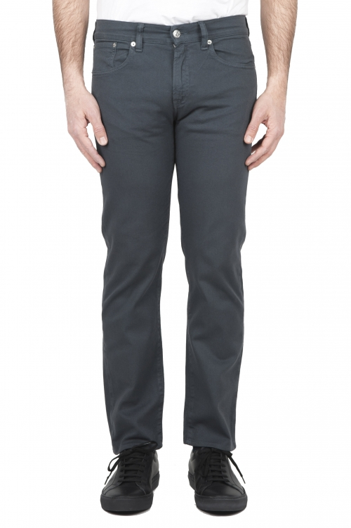 SBU 03215_2021SS Grey overdyed pre-washed stretch bull denim cotton jeans 01