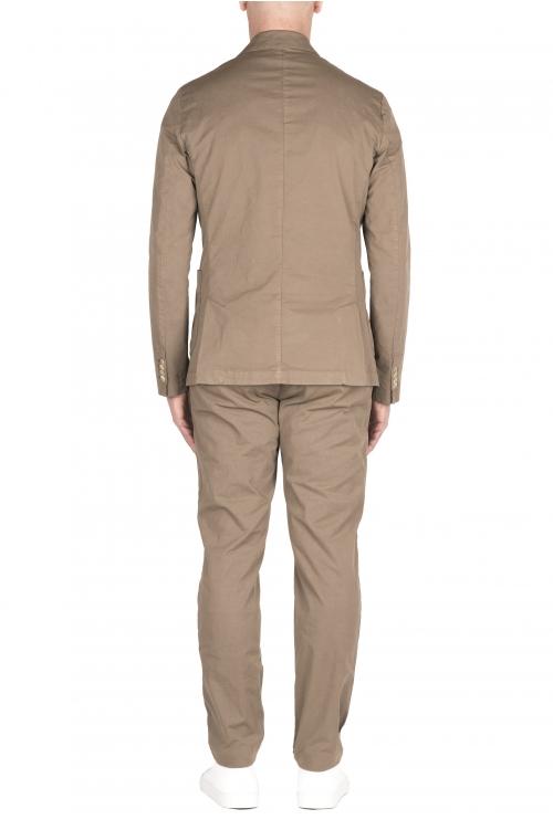 SBU 03217_2021SS Blazer et pantalon de costume décontracté en coton kaki 01