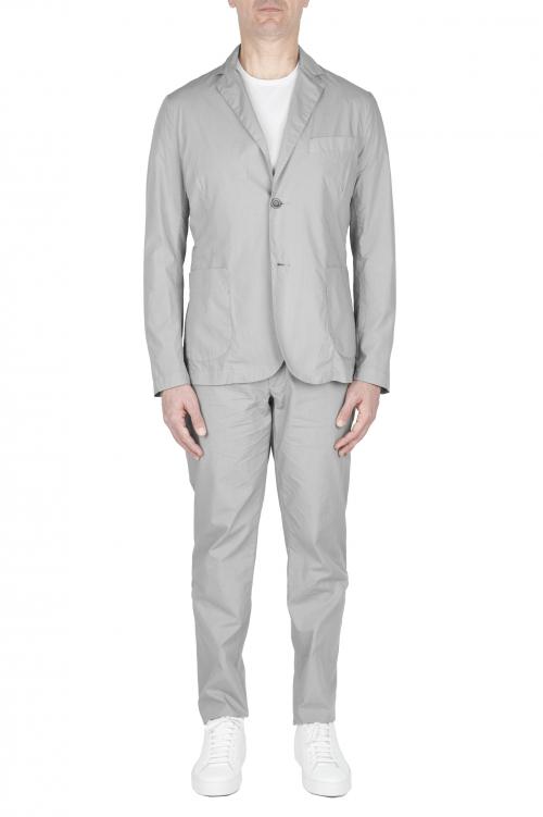 SBU 03221_2021SS Abito in cotone completo di giacca e pantalone grigio chiaro 01
