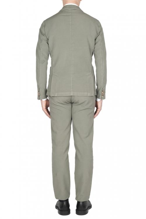 SBU 03227_2021SS Abito in cotone completo di giacca e pantalone verde 01