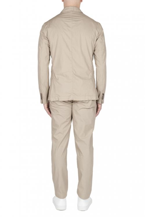 SBU 03230_2021SS Chaqueta y pantalón de traje deportivo de algodón beige 01