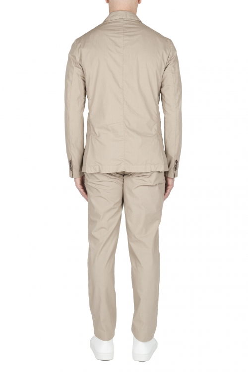 SBU 03230_2021SS Cotton sport suit blazer and trouser beige 01