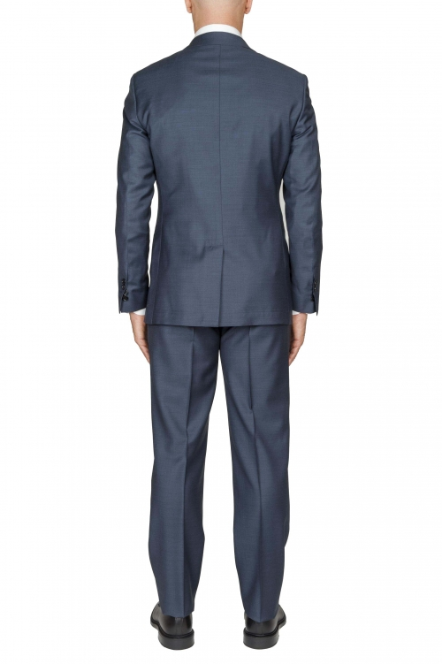 SBU 03235_2021SS Blazer y pantalón formal de lana fresca azul para hombre 01