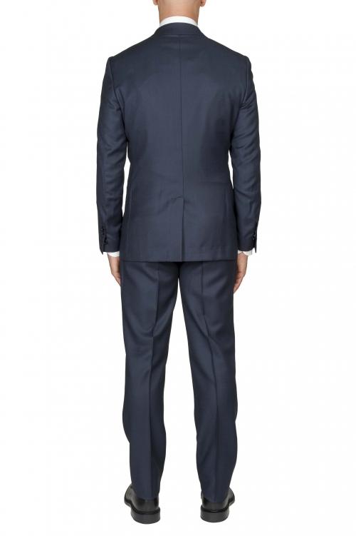 SBU 03238_2021SS Blazer y pantalón formal de lana fresca azul ojo de perdiz para hombre 01