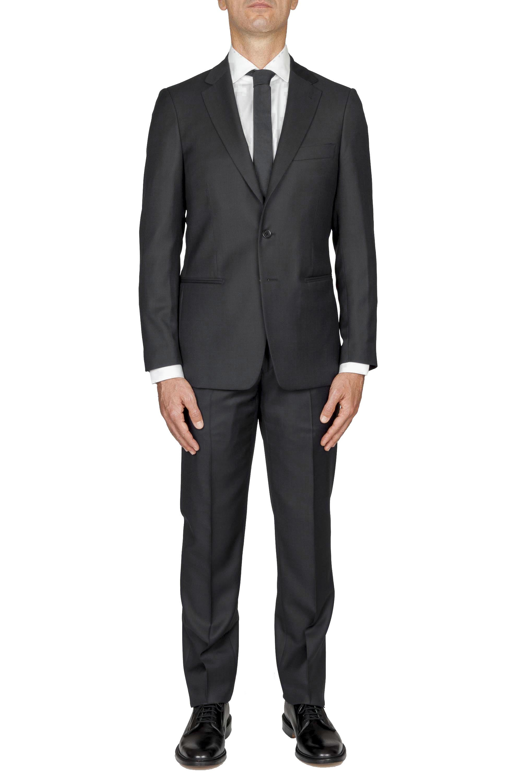 SBU 03240_2021SS Men's dark grey cool wool formal suit partridge eye blazer and trouser 01