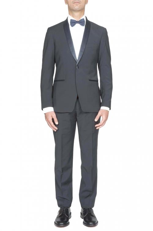 SBU 03244_2021SS Abito smoking blue in lana giacca e pantalone 01