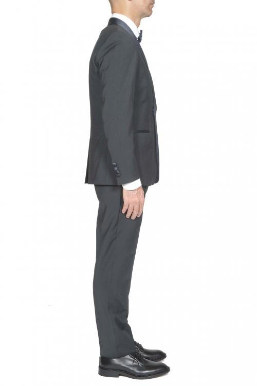 SBU 03244_2021SS Blue wool tuxedo jacket and trouser 01